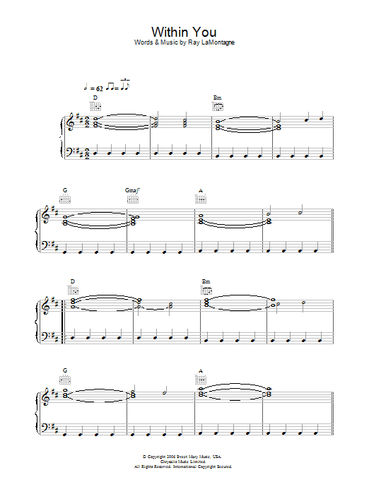 Within You Sheet Music
