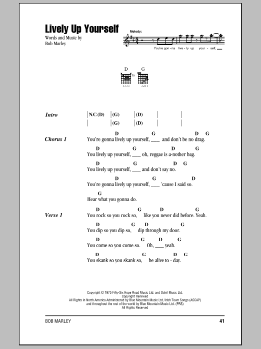 Lively Up Yourself Sheet Music