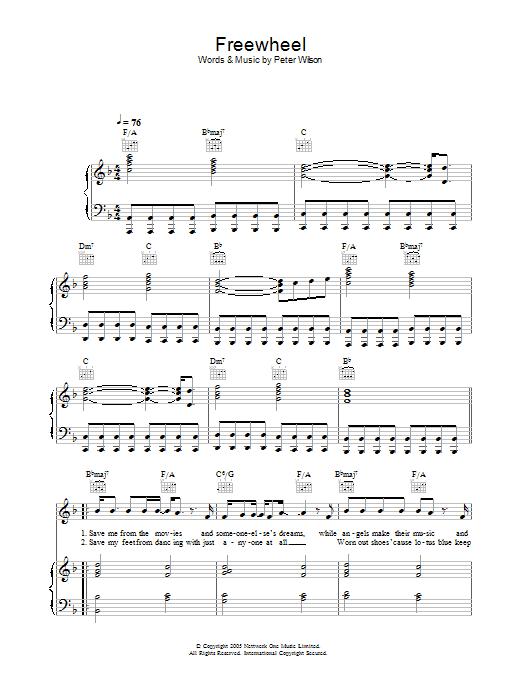 Freewheel (Piano, Vocal & Guitar)