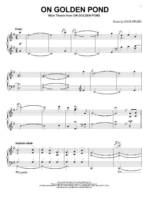 On Golden Pond Sheet Music