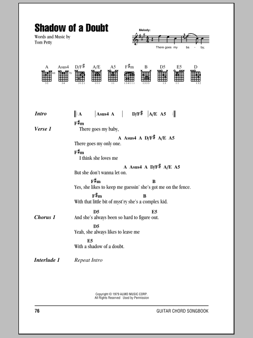 Shadow Of A Doubt Sheet Music