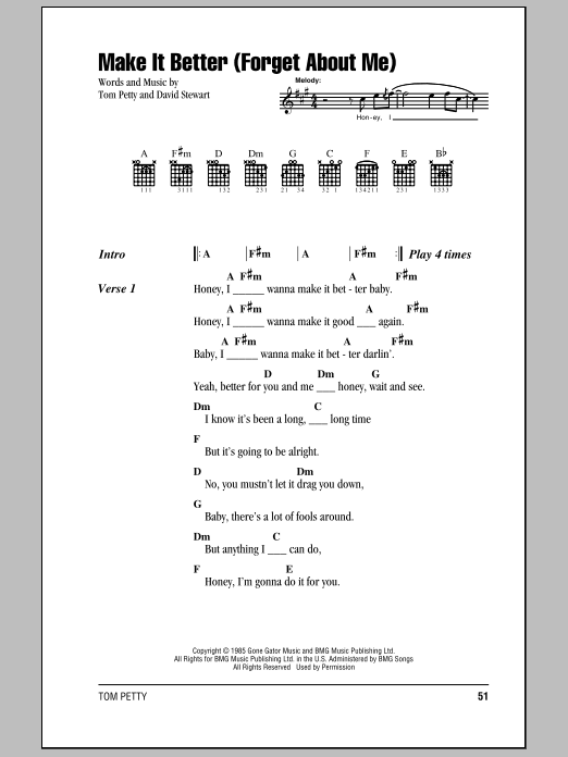 Make It Better (Forget About Me) Sheet Music