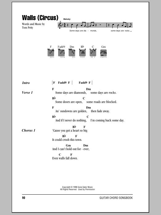 Walls (Circus) Sheet Music