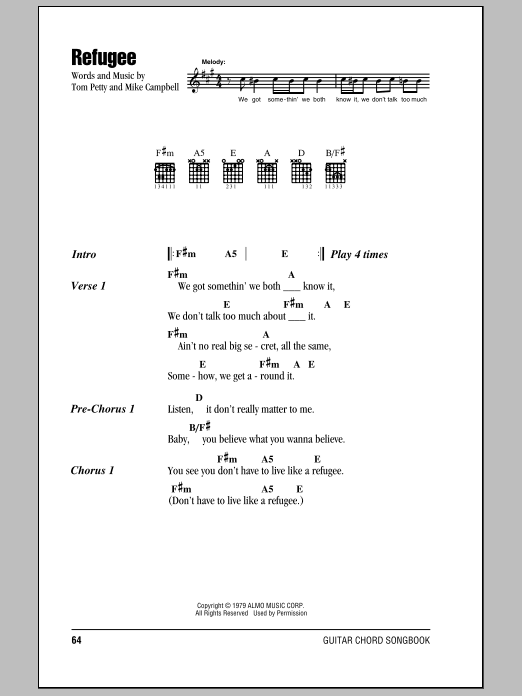 Refugee Sheet Music