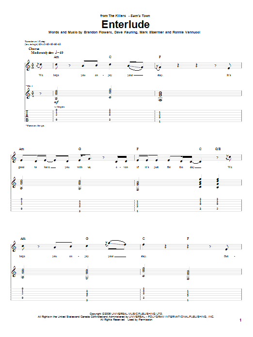 Enterlude Sheet Music
