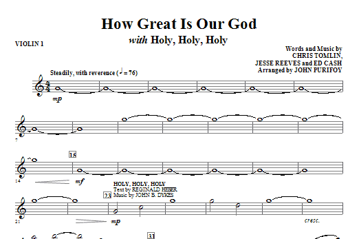 How Great Is Our God with Holy, Holy, Holy - Violin 1 Sheet Music