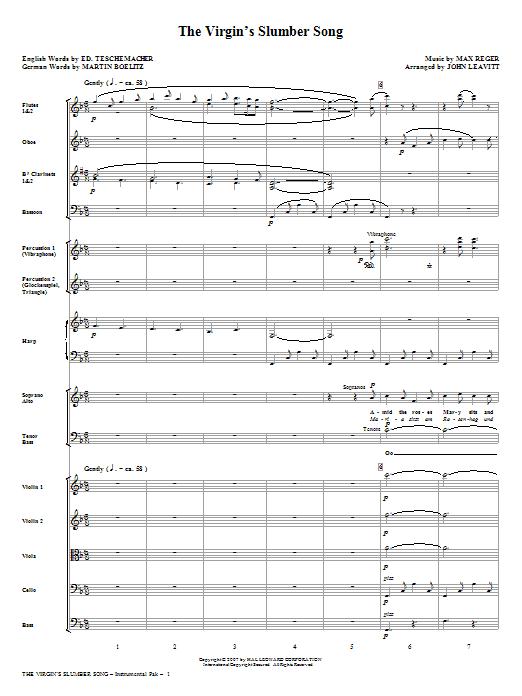 The Virgin's Slumber Song - Full Score Sheet Music