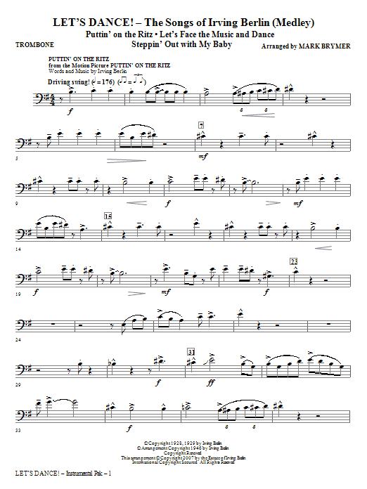Let's Dance! - The Songs of Irving Berlin (Medley) - Trombone (Choir Instrumental Pak)