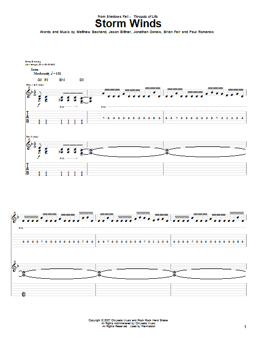 Storm Winds Sheet Music