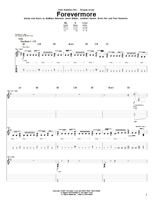 Forevermore Sheet Music