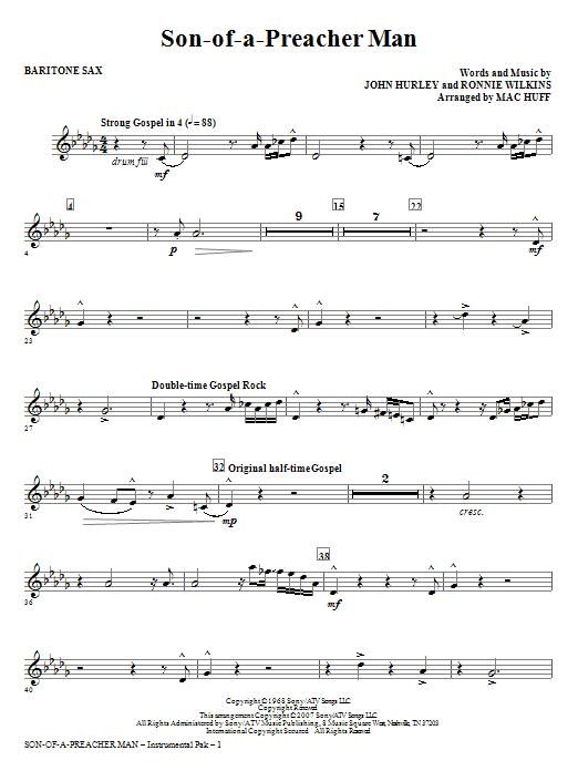 Son-of-a-Preacher Man - Baritone Sax Sheet Music