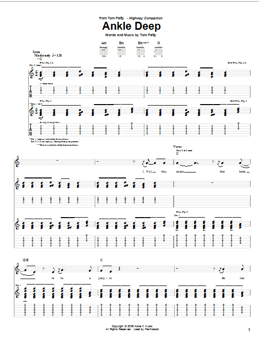 Ankle Deep Sheet Music