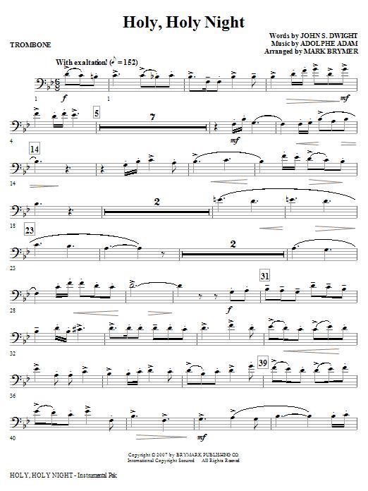 Holy, Holy Night - Trombone Sheet Music