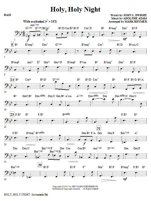 Holy, Holy Night - Bass Sheet Music