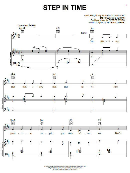 Step In Time (Piano, Vocal & Guitar (Right-Hand Melody))