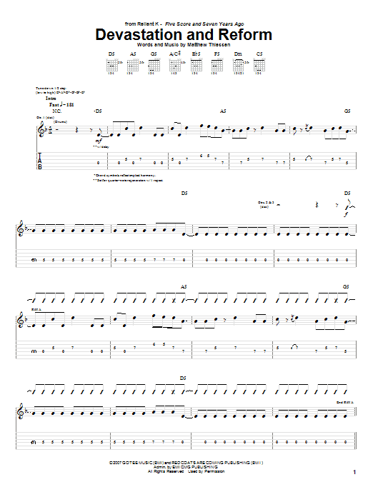 Devastation And Reform Sheet Music