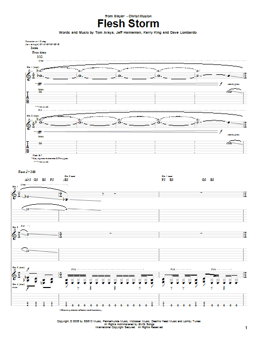 Flesh Storm Sheet Music