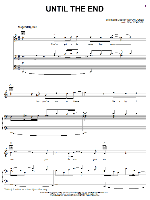 Until The End Sheet Music