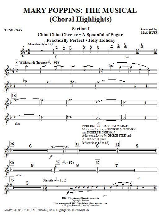 Mary Poppins: The Musical - Tenor Sax Sheet Music