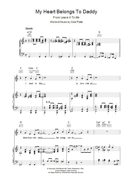 My Heart Belongs To Daddy (Piano, Vocal & Guitar)