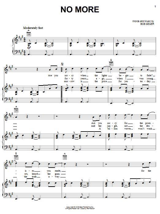 No More (Piano, Vocal & Guitar (Right-Hand Melody))