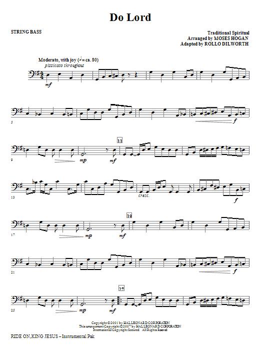 Ride On, King Jesus - String Bass Sheet Music