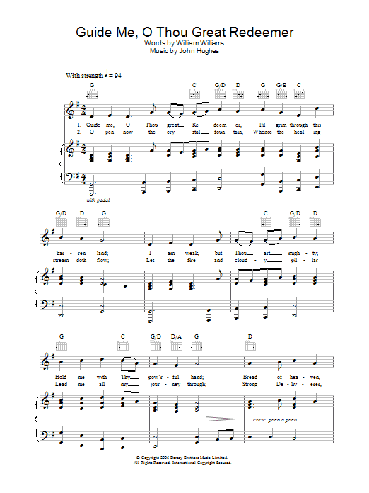Guide Me, O Thou Great Redeemer Sheet Music