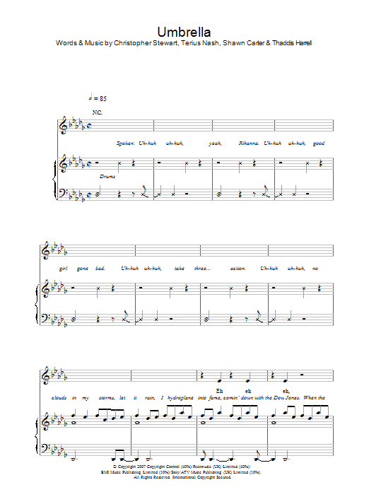 Umbrella : Sheet Music Direct