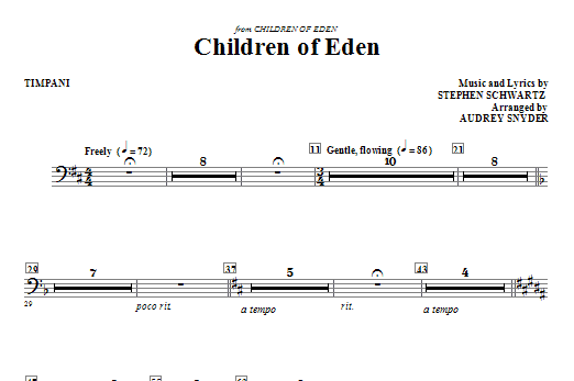 Children of Eden - Timpani Sheet Music