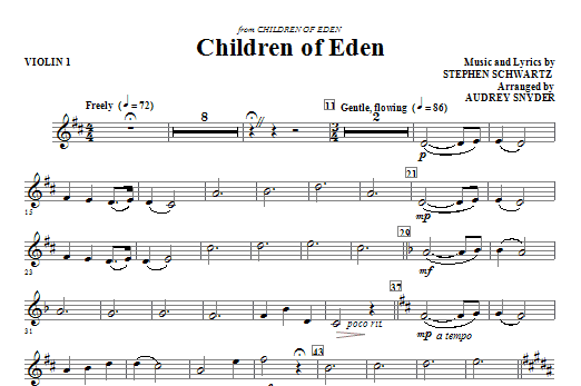 Children of Eden - Violin 1 (Choir Instrumental Pak)