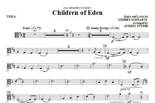 Children of Eden - Viola Sheet Music