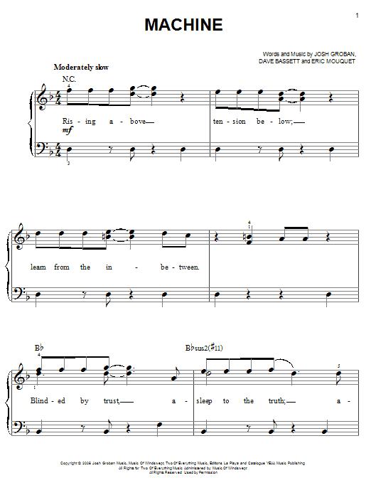 Machine Sheet Music