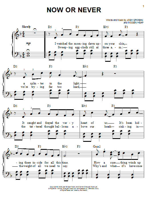 Now Or Never Sheet Music