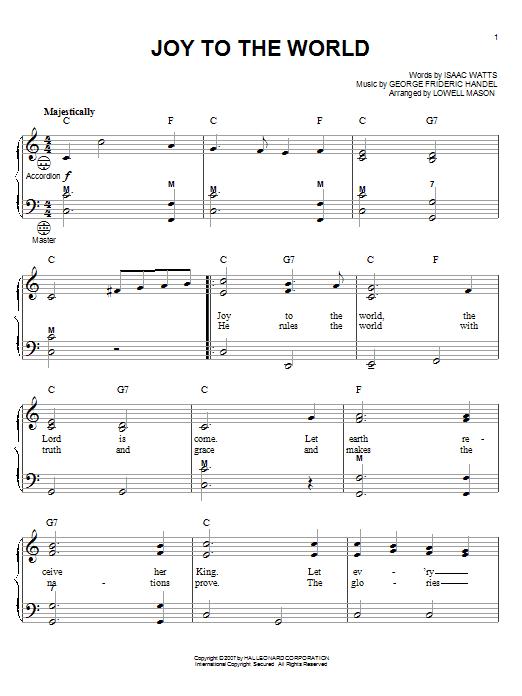 Partition autre Joy To The World de Gary Meisner - Accordeon
