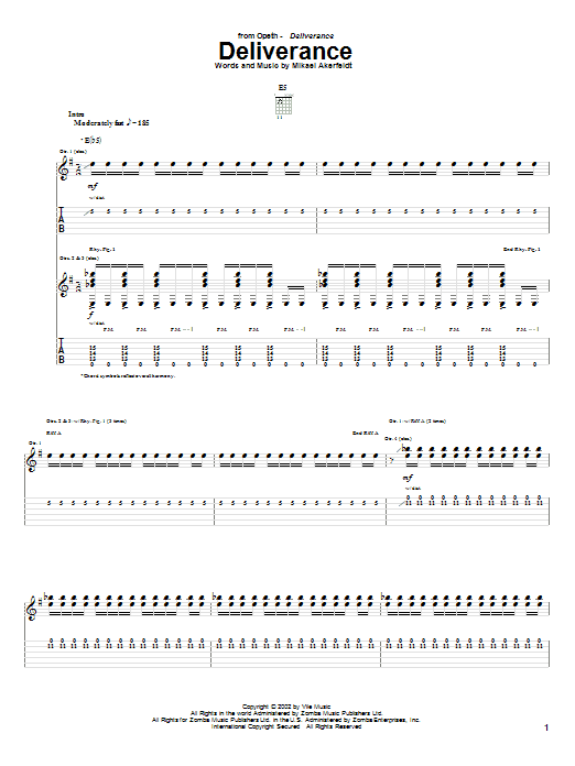 Deliverance (Guitar Tab)