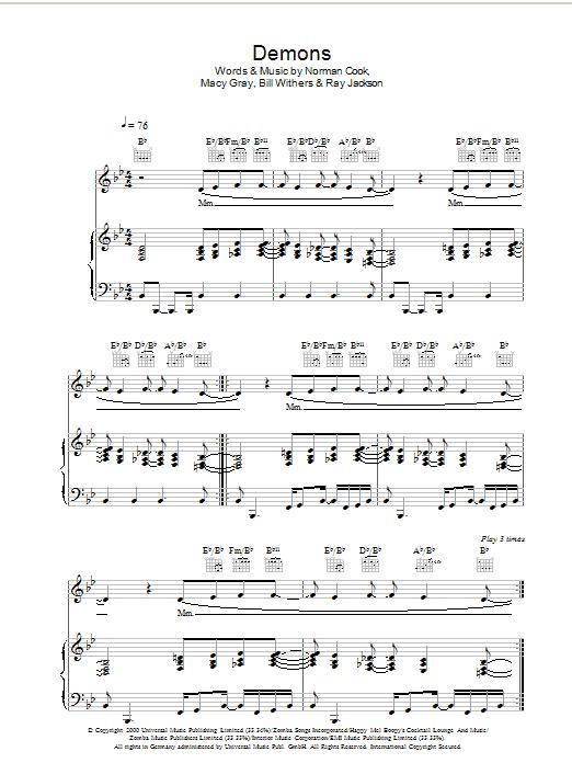 Demons Piano Sheet Music Erkalnathandedecker