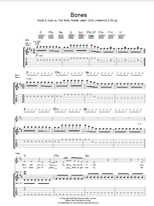 Bones (Guitar Tab)