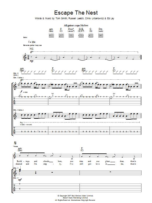 Escape The Nest (Guitar Tab)