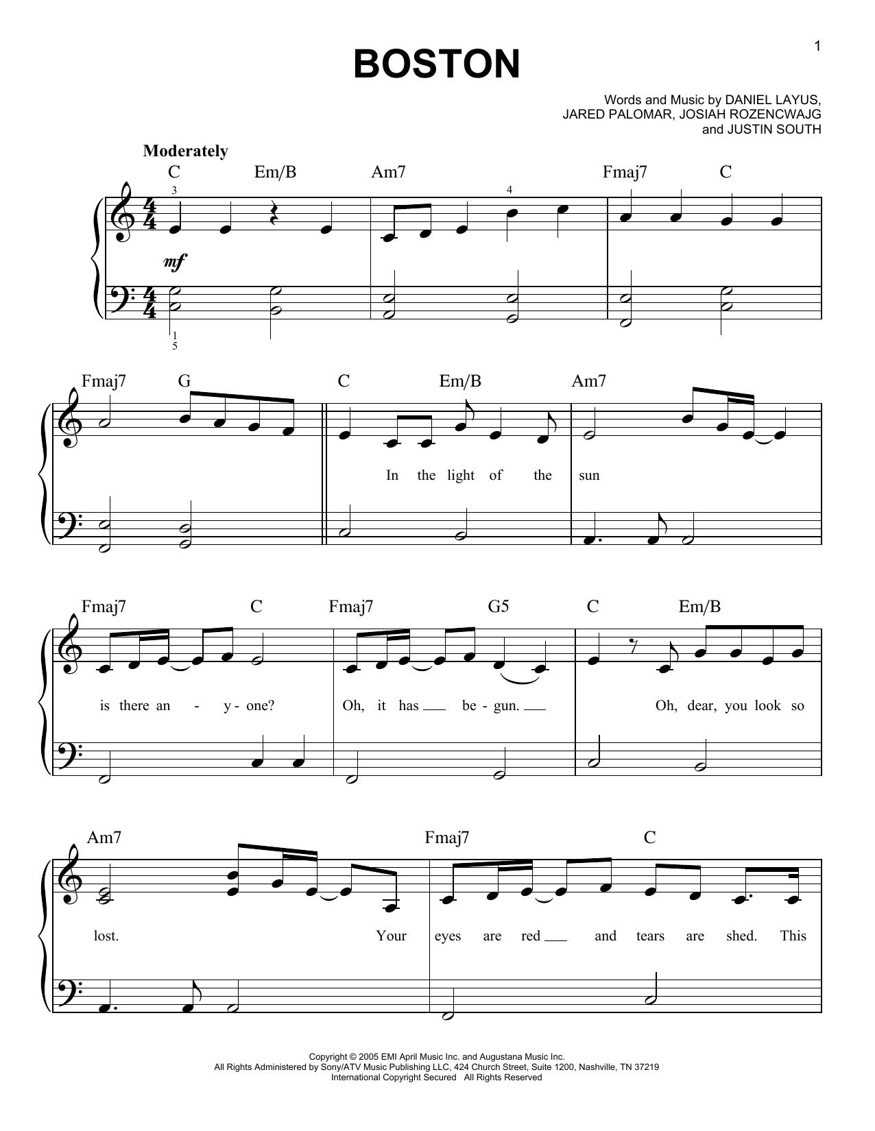 Boston Sheet Music