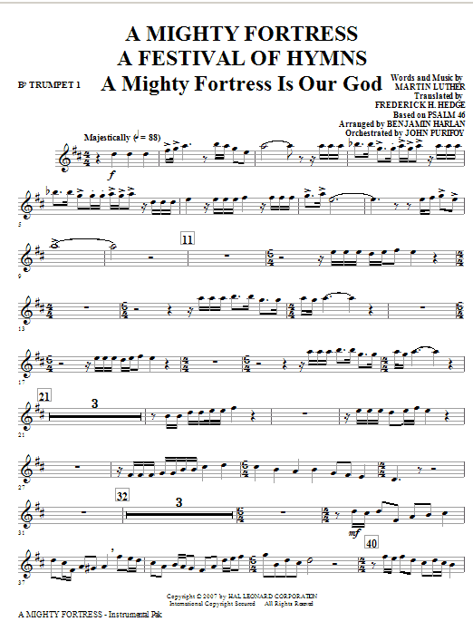 A Mighty Fortress - A Festival of Hymns - Bb Trumpet 1 Sheet Music