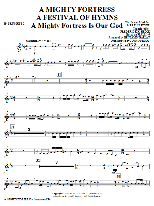 A Mighty Fortress - A Festival of Hymns - Bb Trumpet 2 Sheet Music