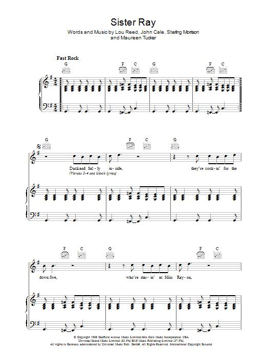 Sister Ray Sheet Music