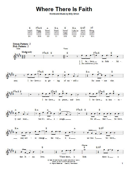 Where There Is Faith (Easy Guitar)