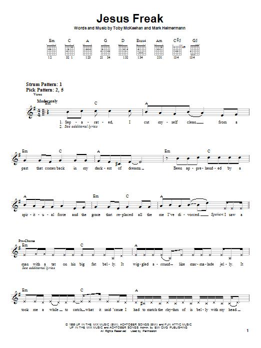 Jesus Freak (Easy Guitar)