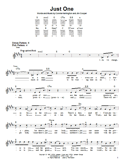 Just One Sheet Music