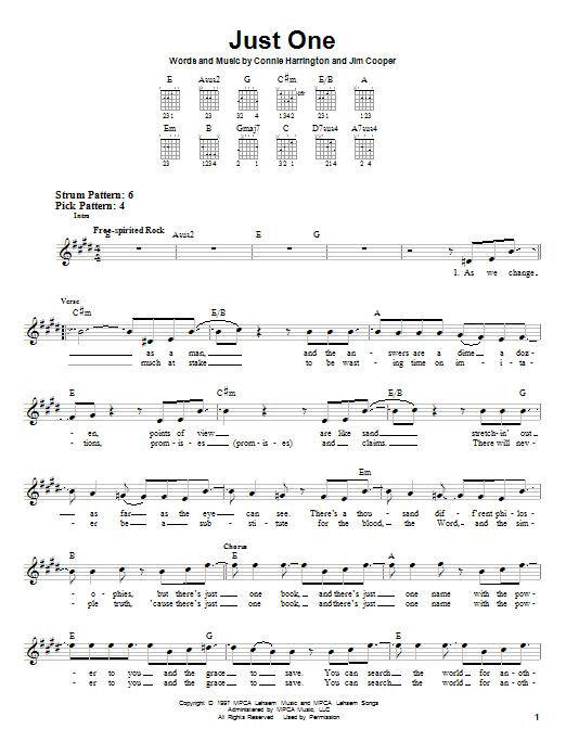 Tablature guitare Just One de Phillips, Craig & Dean - Tablature guitare facile
