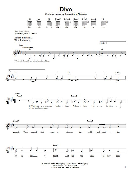 Dive (Easy Guitar)
