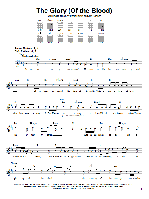 Tablature guitare The Glory (Of The Blood) de Avalon - Tablature guitare facile