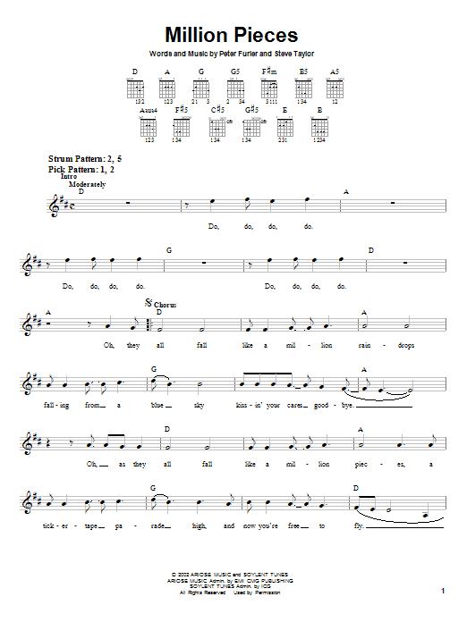 Million Pieces (Easy Guitar)