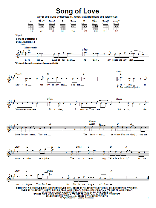Song Of Love Sheet Music